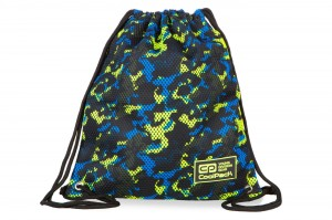 Coolpack - sprint line - worek sportowy - camo mesh yellow